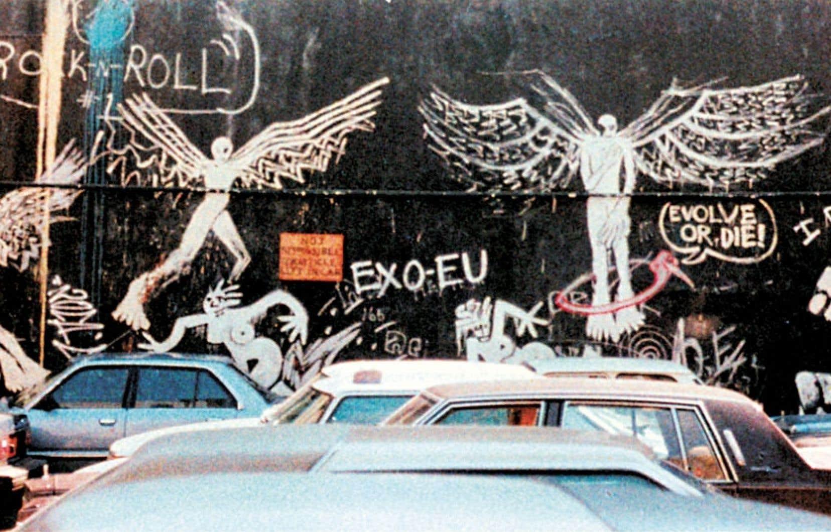En 1982, le professeur suisse Lucien Dällenbach a déambulé pendant une semaine dans les rues de New York avec Claude Simon. Ils ont pris ensemble des photos de graffitis poétiques ou contestataires et d'entrepôts délabrés.