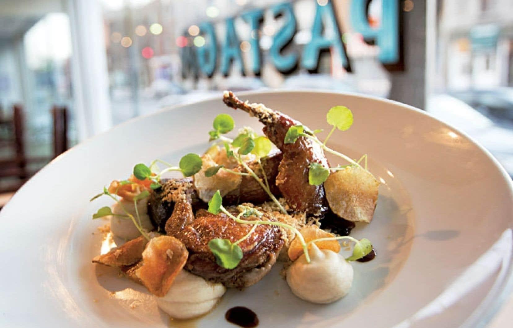 Pastaga offre une cuisine correspondant à ce qu'on s'attend à trouver chez Martin Juneau, qui trouve toujours le moyen de préparer des plats étonnants.