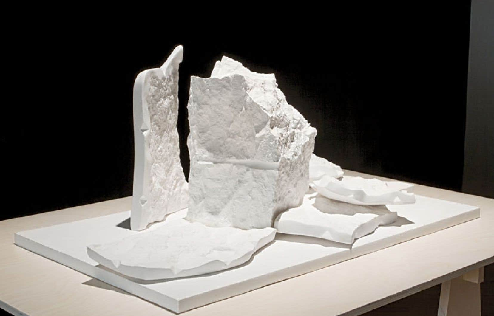 Apparition (2013) est l'une des œuvres que l'artiste Chloé Desjardins présente dans une mise en scène calculée.