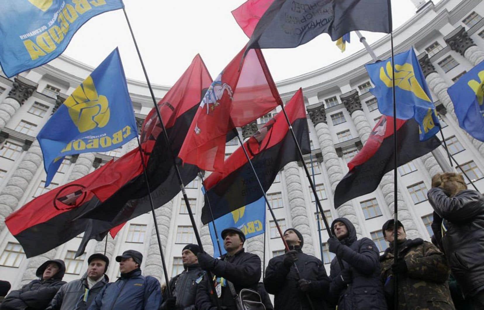 Manifestants à Kiev