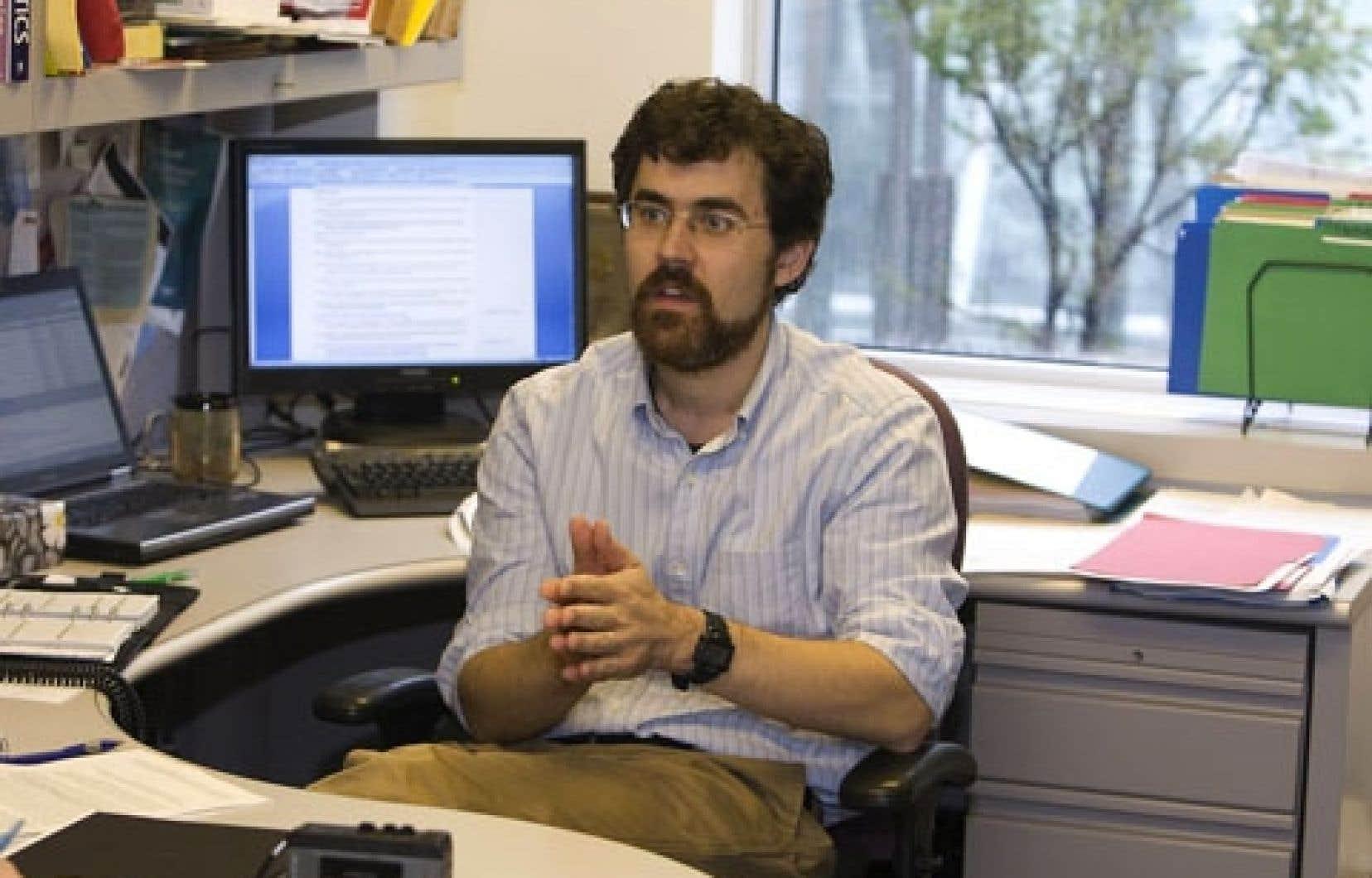 Le professeur à HEC Montréal Pierre-Olivier Pineau, en 2010.