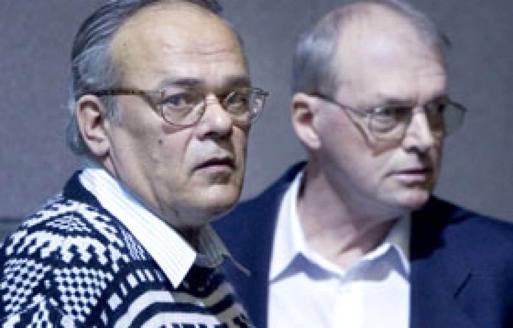 Le surveillant routier Jules Bonin et son supérieur, Jean-Pierre Chabot.