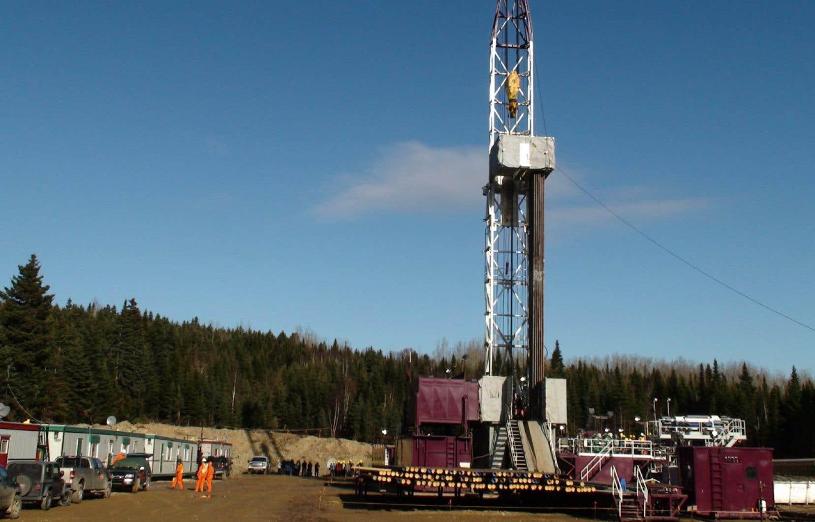 Le puits Haldimand 1, de Pétrolia, situé à 1.5 kilomètre du port de Gaspé.
