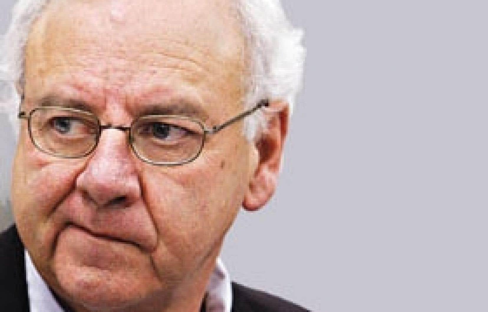 Jean Lafleur lors de son témoignage devant la commission Gomery.