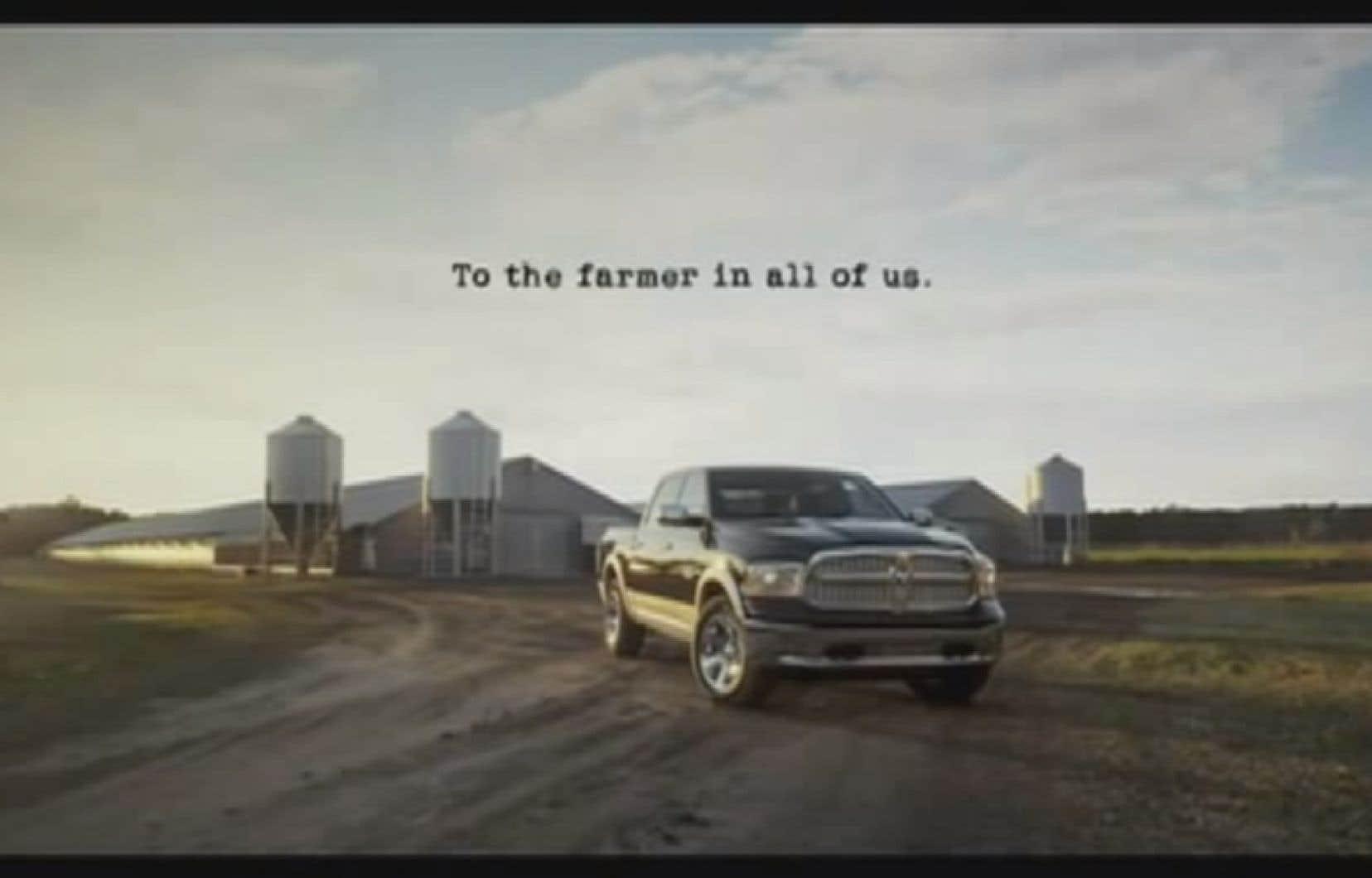Une image de la publicité de Dodge Ram diffusée au Super Bowl l'an dernier. Lephénomène des publicités du Super Bowl menace depuis longtemps la partie en elle-même en termes d'ampleur du spectacle et de signification sur le plan de la culture populaire.