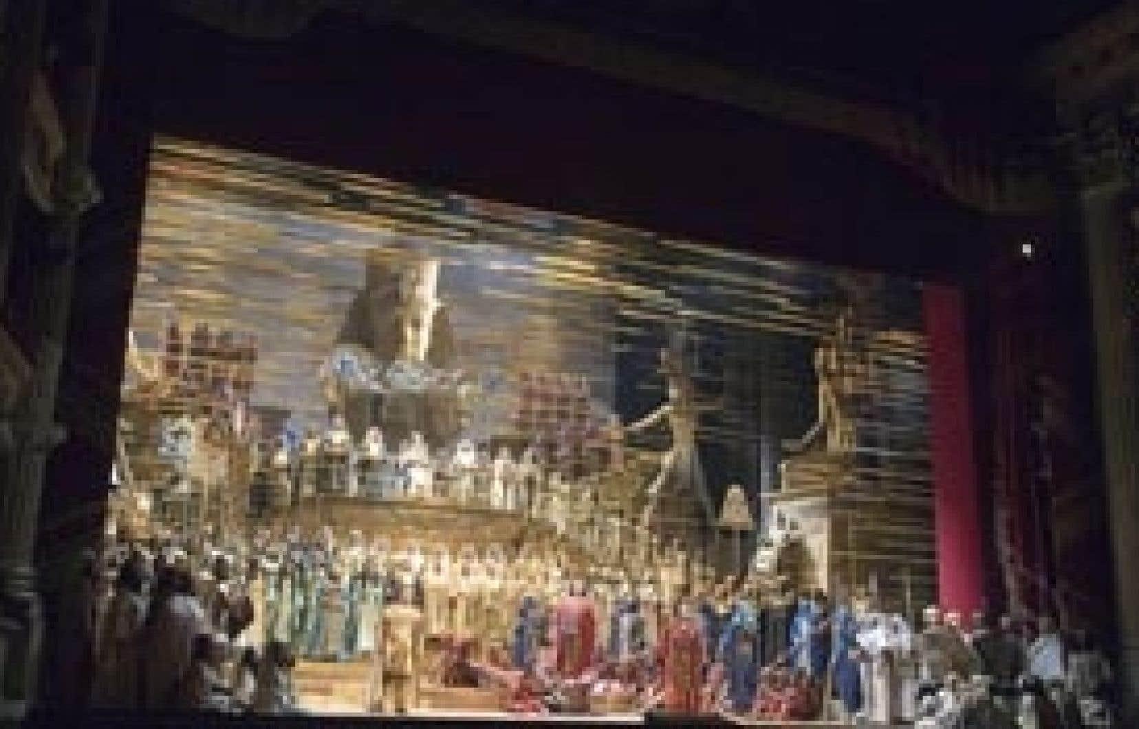 Manon Feubel sur le plateau d'Aïda de Verdi
