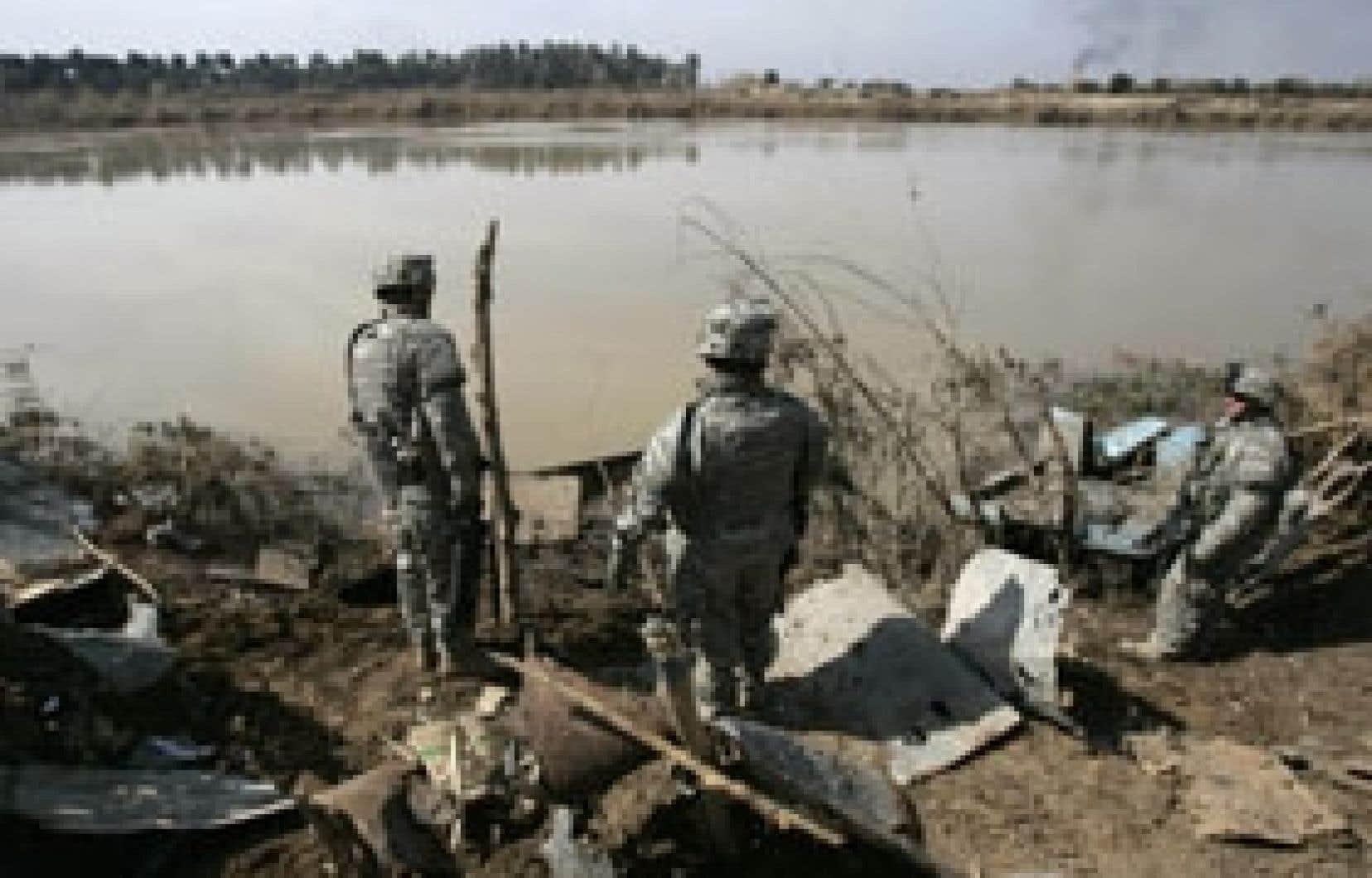 Soldats américains déployés au sud-est de Bagdad
