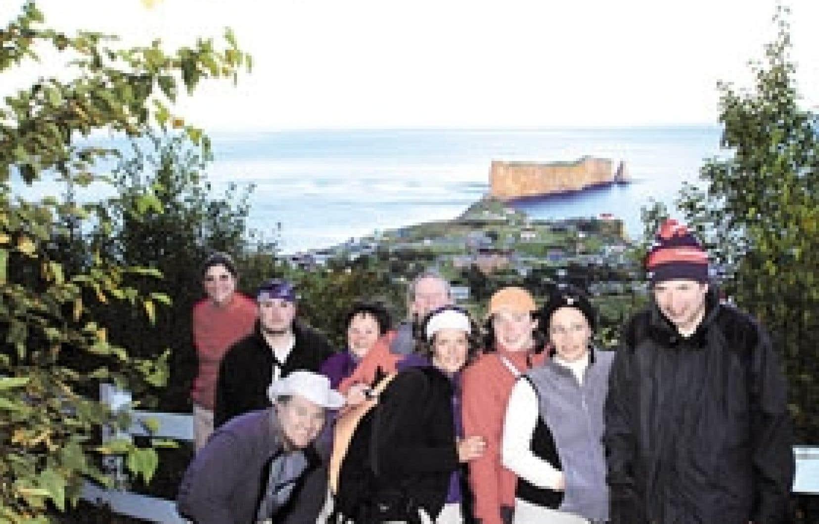Les participants à un congrès-évasion organisé par Windigo Aventure à Percé.