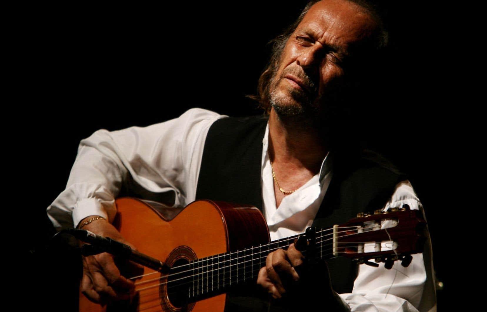 Paco de Lucía lors d'un concert dans sa ville natale d'Algésiras, en Espagne, en 2006