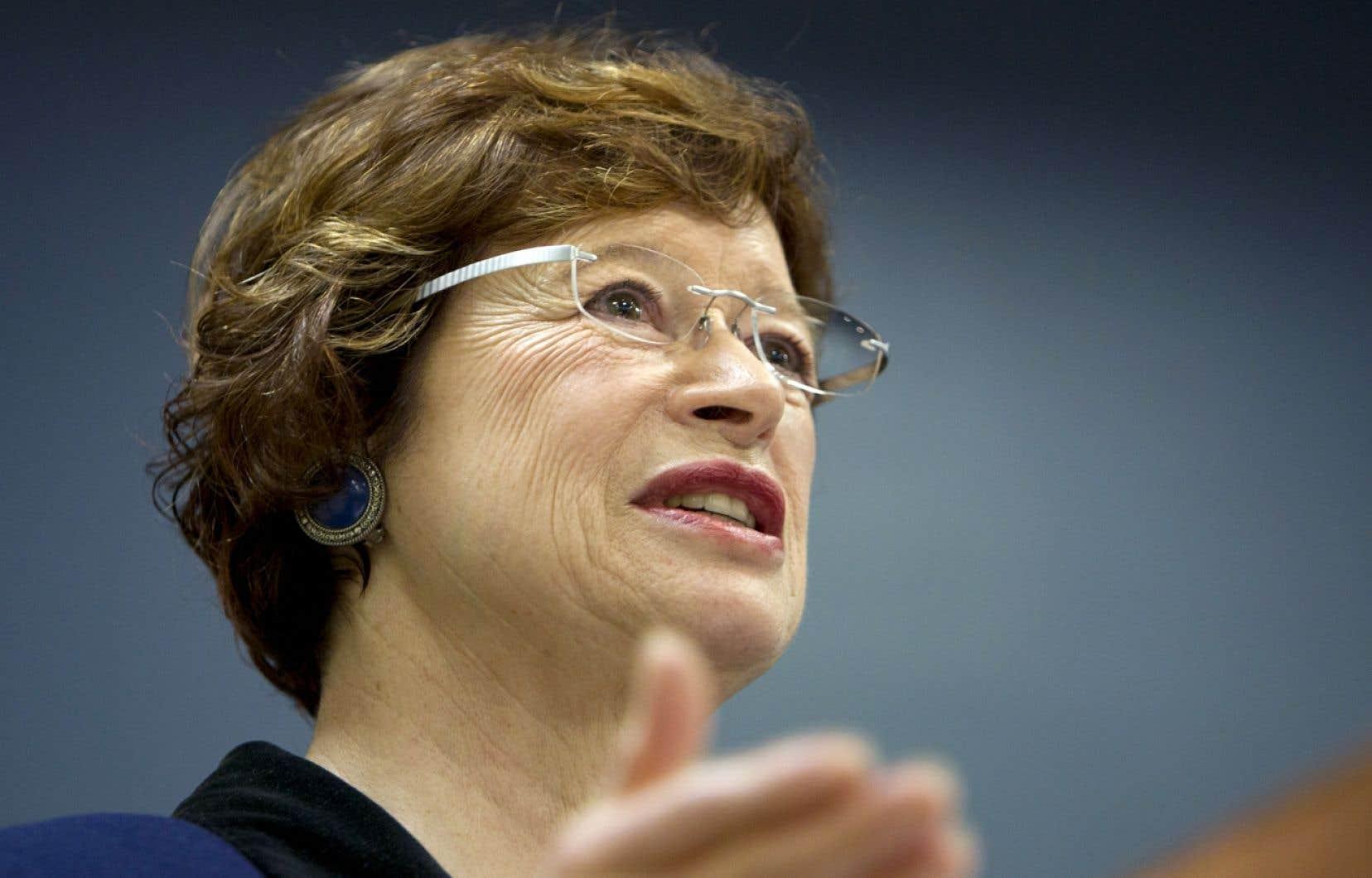 Marie Malavoy a été député de Sherbrooke de 1994 à 1998 et présidente du Parti québécois de 2000 à 2005. Elle est député de Taillon depuis 2006.