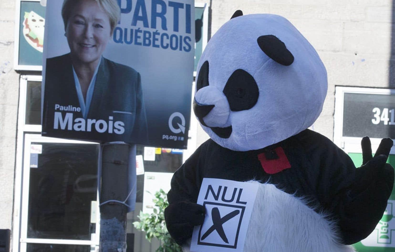 Anarchopanda reprend du service afin de mettre en avant l'option du Parti nul dans la présente campagne électorale québécoise.