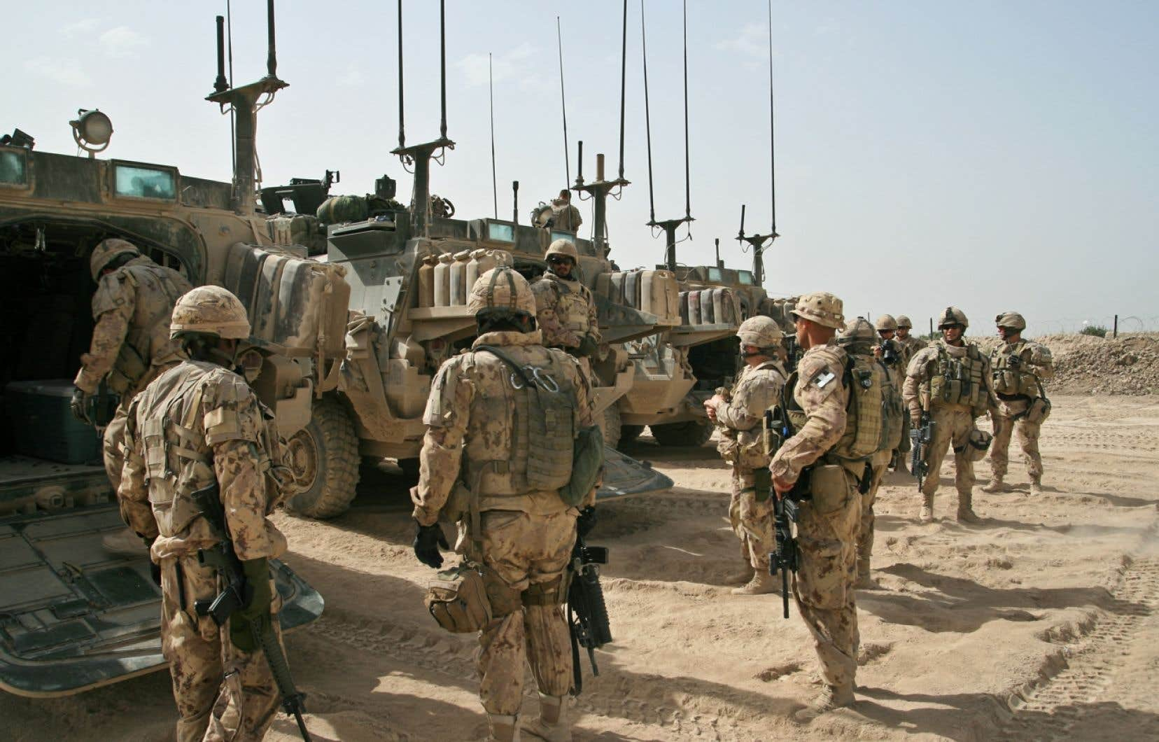 Les militaires encore sur place, soit environ une centaine, rentreront à la maison dans quelques jours.