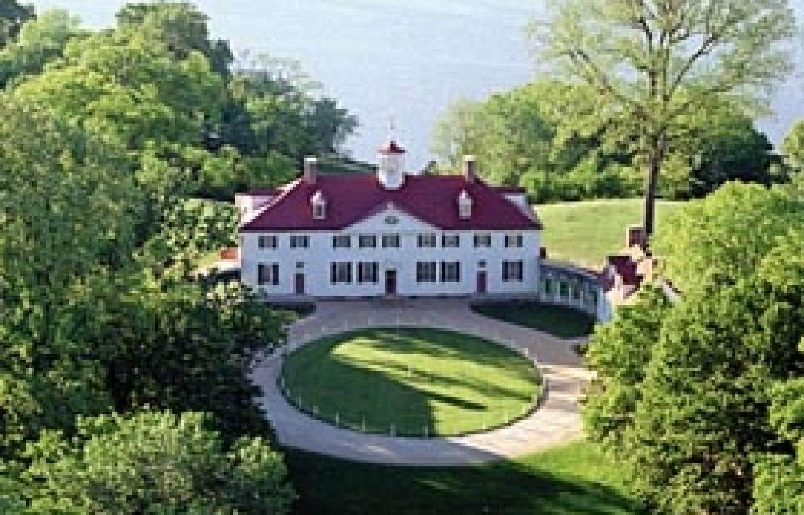Mount Vernon, le manoir et le domaine de George Washington.