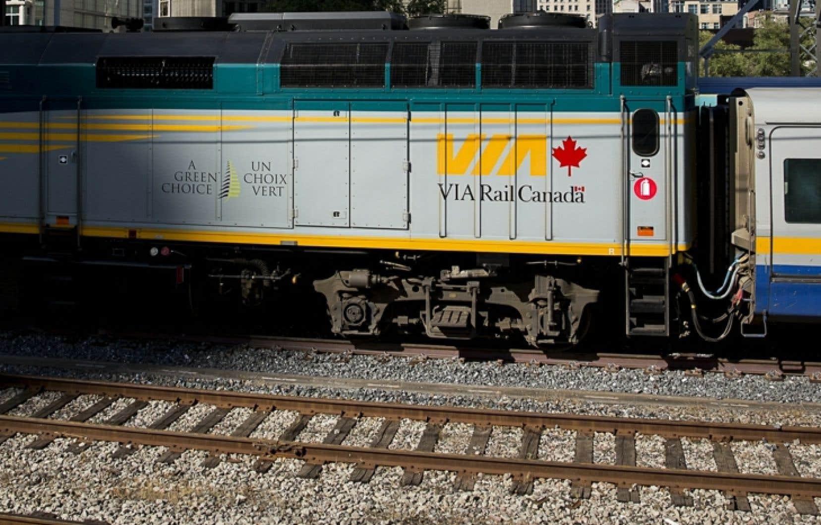 Les trains qui effectuent la liaison entre Ottawa et Montréal circulent quant à eux selon l'horaire régulier.