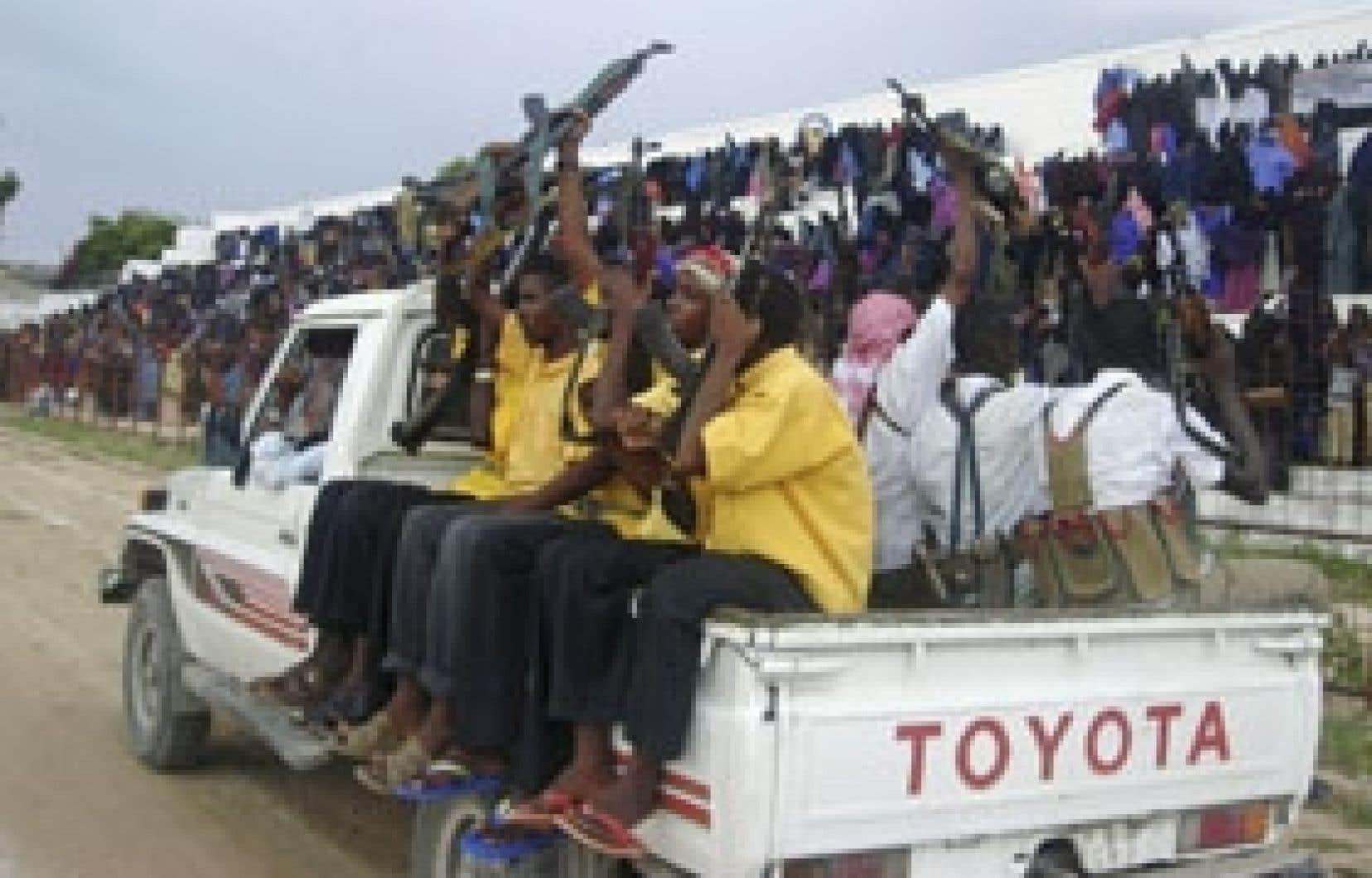 Manifestation contre le déploiement prévu d'une force des Nations unies en Somalie.