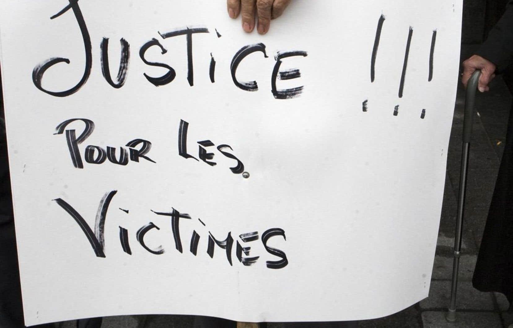 Le but premier du projet de loi est de donner des droits aux victimes d'actes criminels.