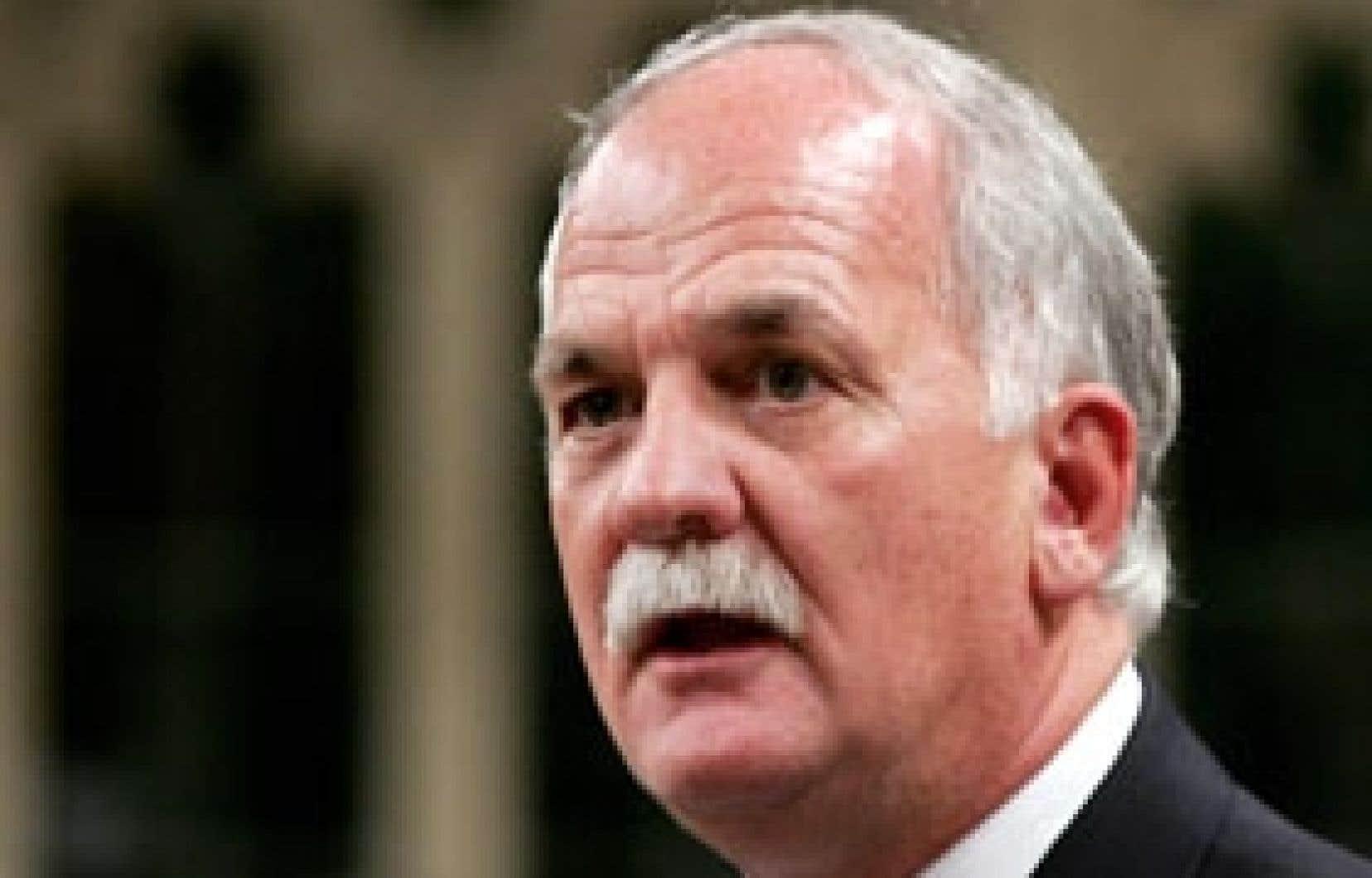 Le ministre fédéral de la Justice, Vic Toews