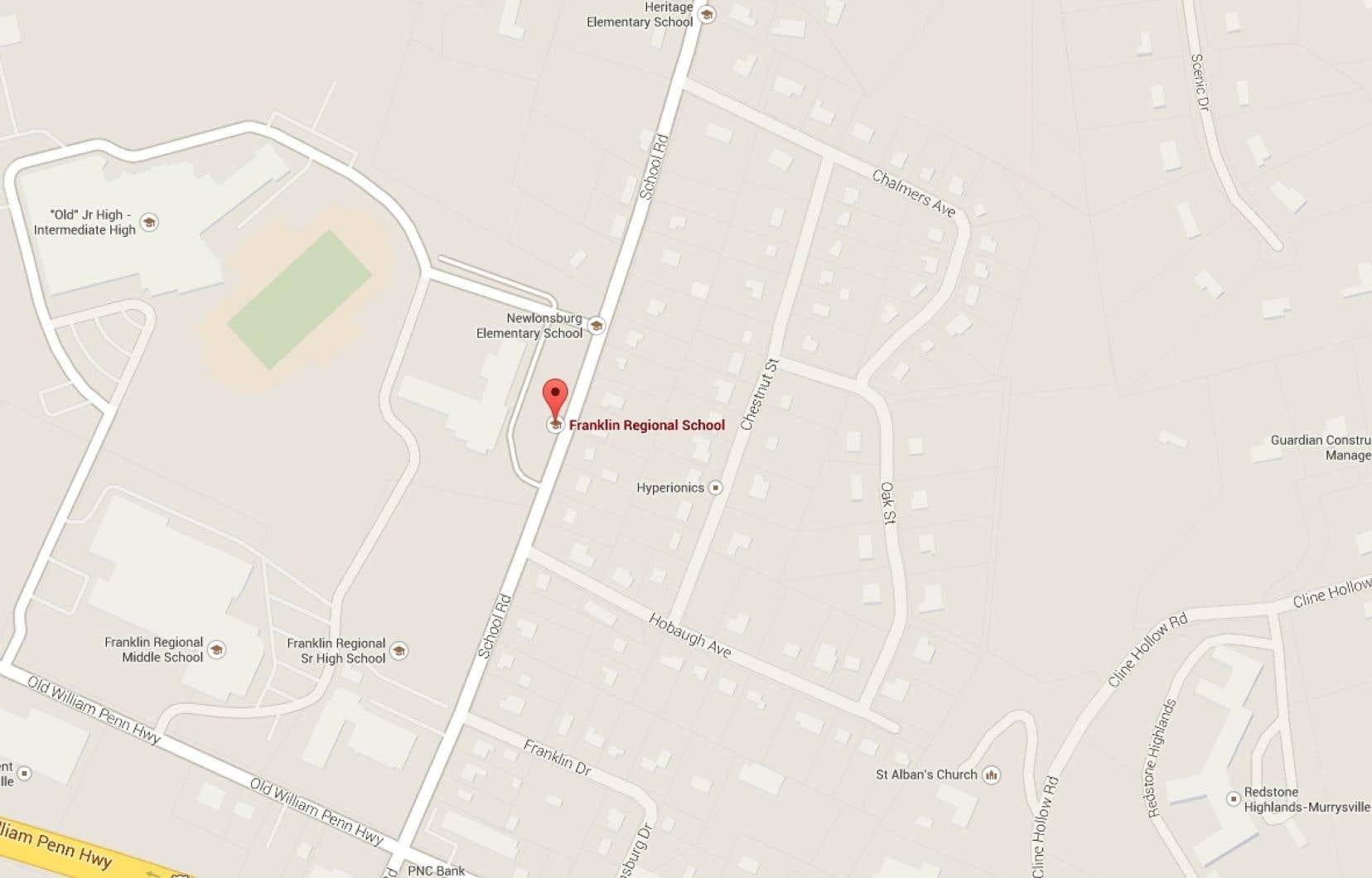 L'agression à l'arme blanche est survenue dans l'école secondaire Franklin Regional de Murrysville, près de Pittsburgh