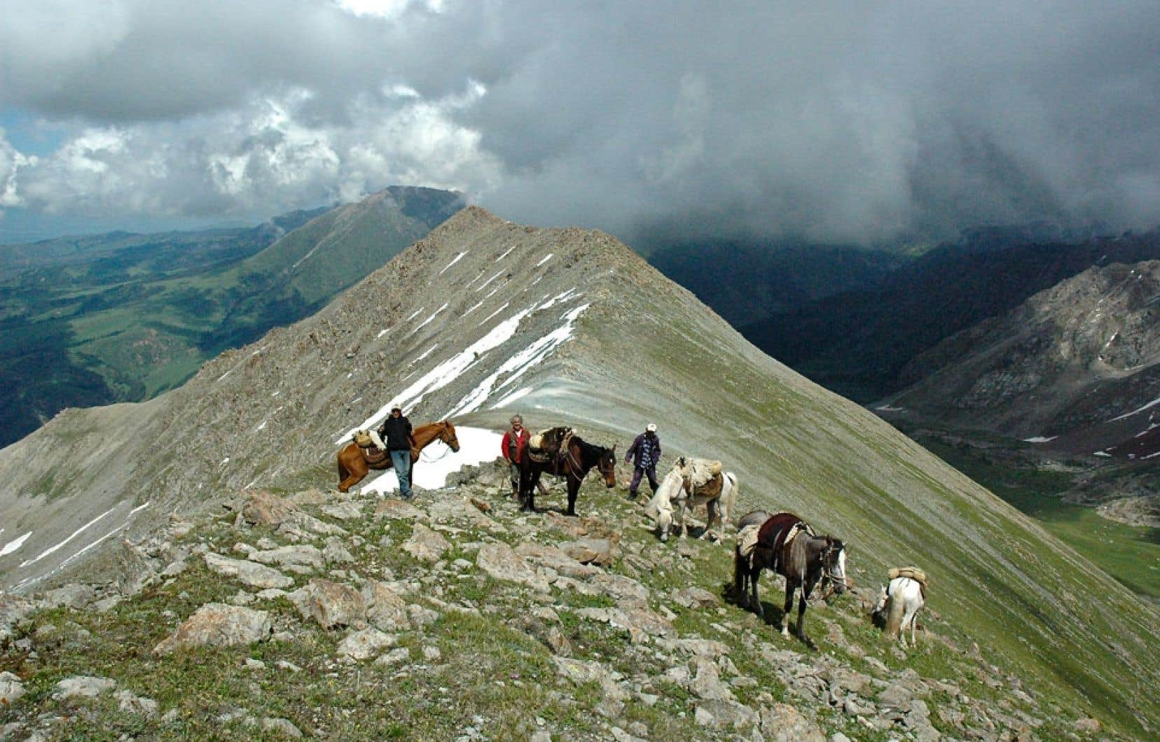 À 4000 mètres d'altitude dans les Tian Shan.