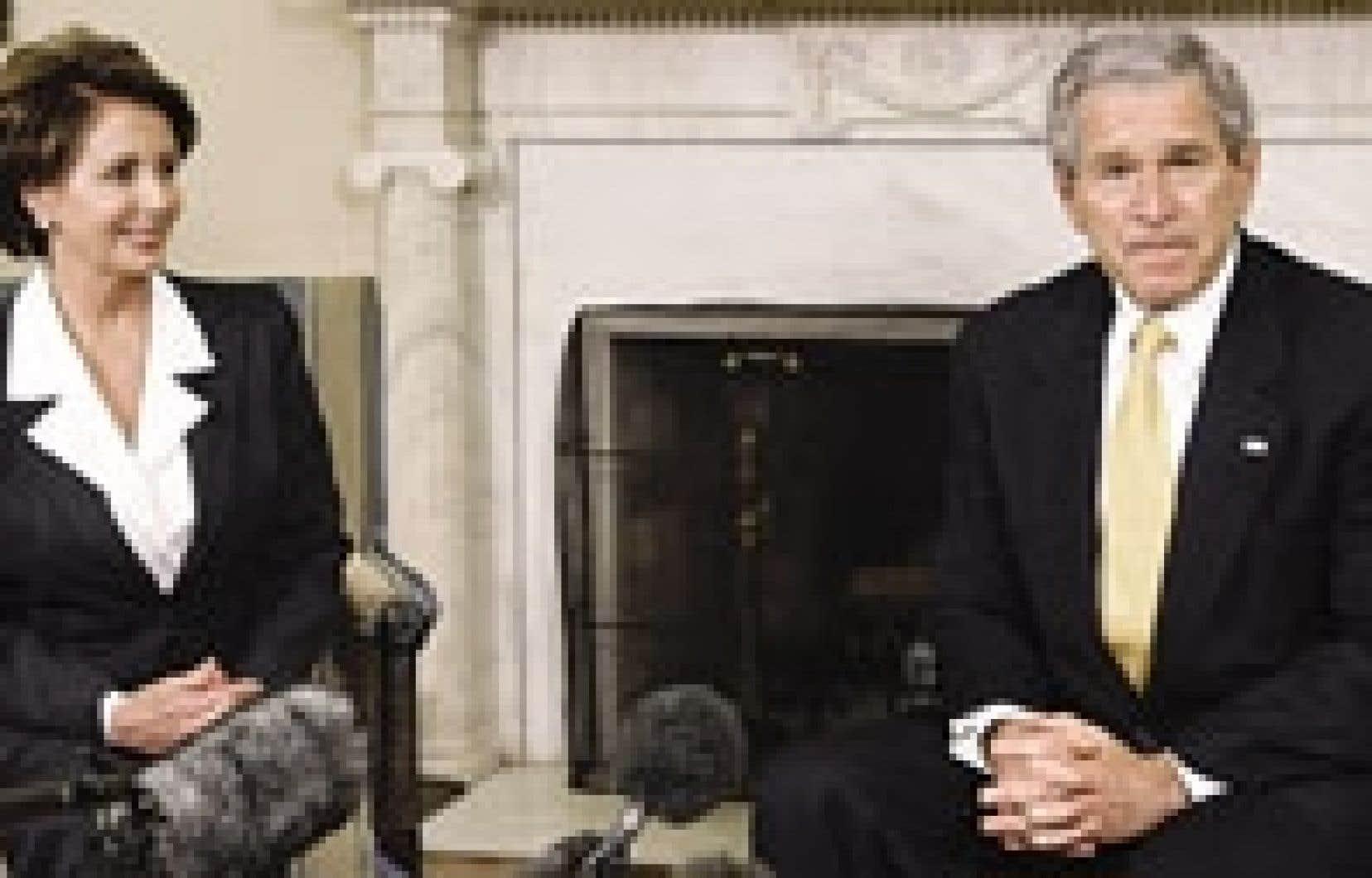 George W. Bush a rencontré hier la nouvelle présidente de la Chambre des représentants, la démocrate Nancy Pelosi.