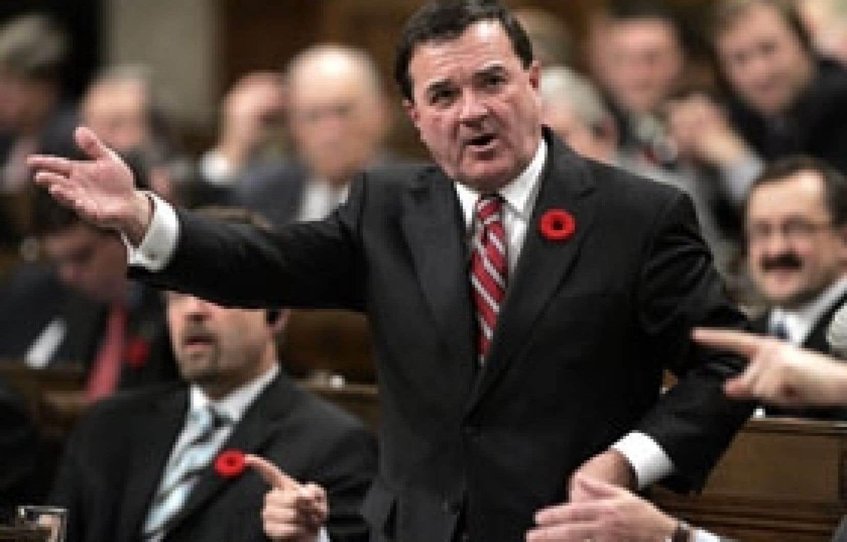 Jim Flaherty, le ministre fédéral des Finances