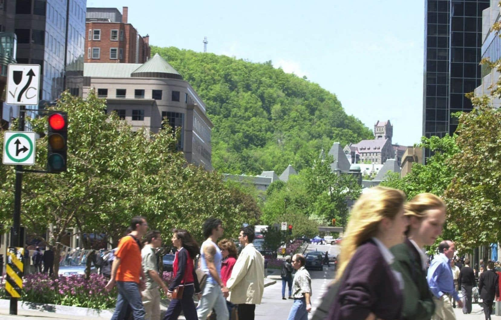 La protection des vues sur le mont Royal a fait l'objet de vigoureuses batailles au début des années 80, alors qu'un projet du promoteur Cadillac-Fairview devait venir obstruer les perspectives sur la montagne depuis l'avenue McGill College. Le projet initial a finalement été abandonné, à la suite des protestations venant de divers groupes de citoyens, dont Héritage Montréal.