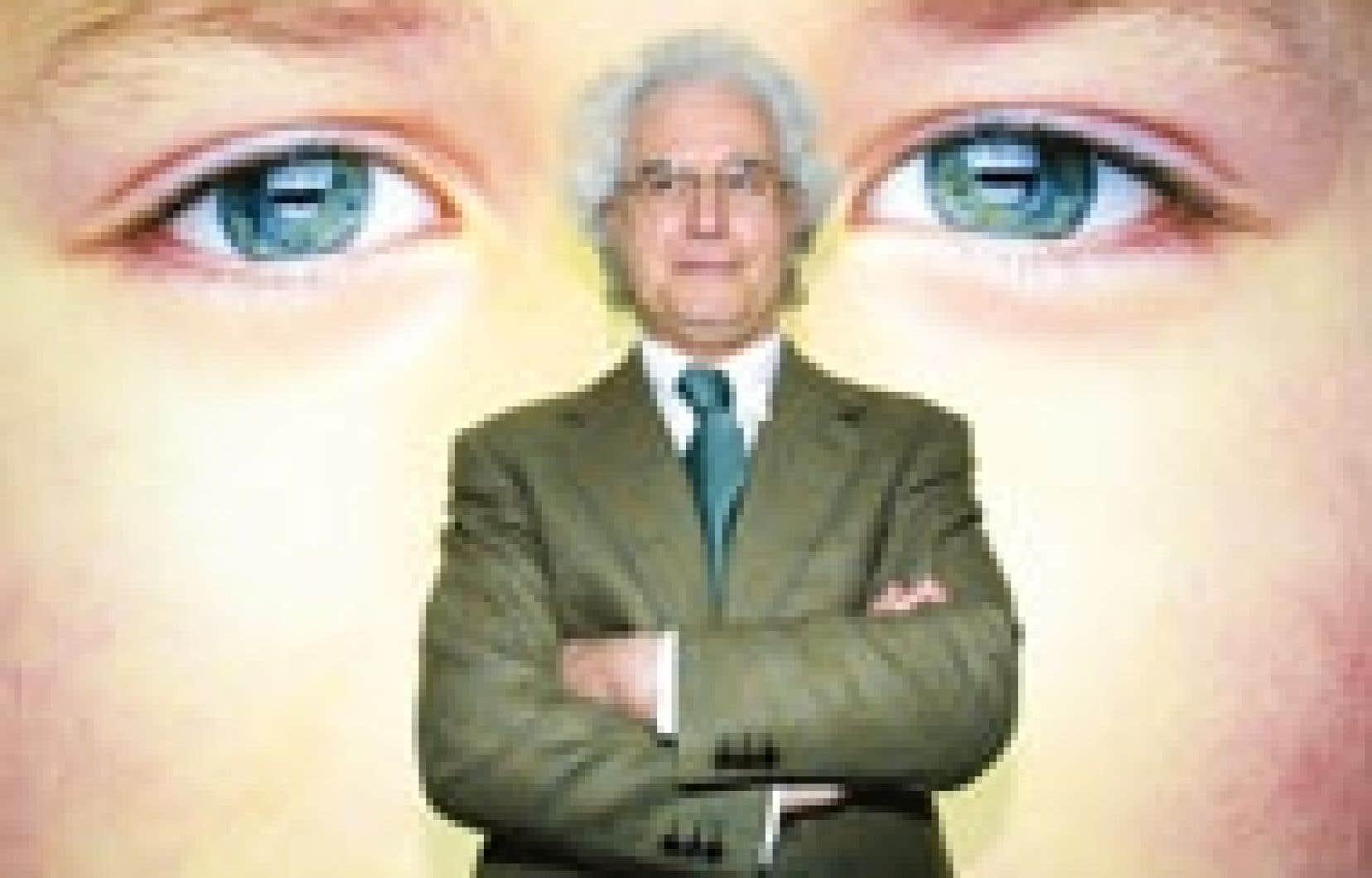 Teint pâle d'institutrice végétarienne avec des lunettes rondes à la John Lennon, Luciano Benetton en dit le moins possible. Il se dérobe aux questions avec des réponses neutres, impersonnelles.
