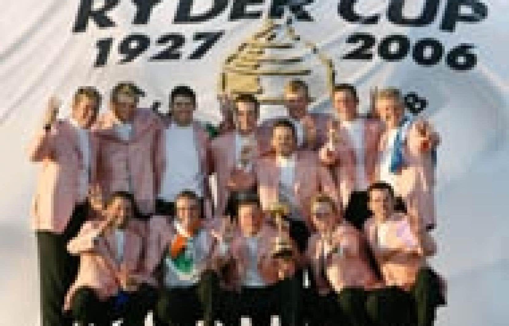 Les golfeurs européens ont célébré leur victoire hier, après avoir remporté la coupe Ryder en Irlande.