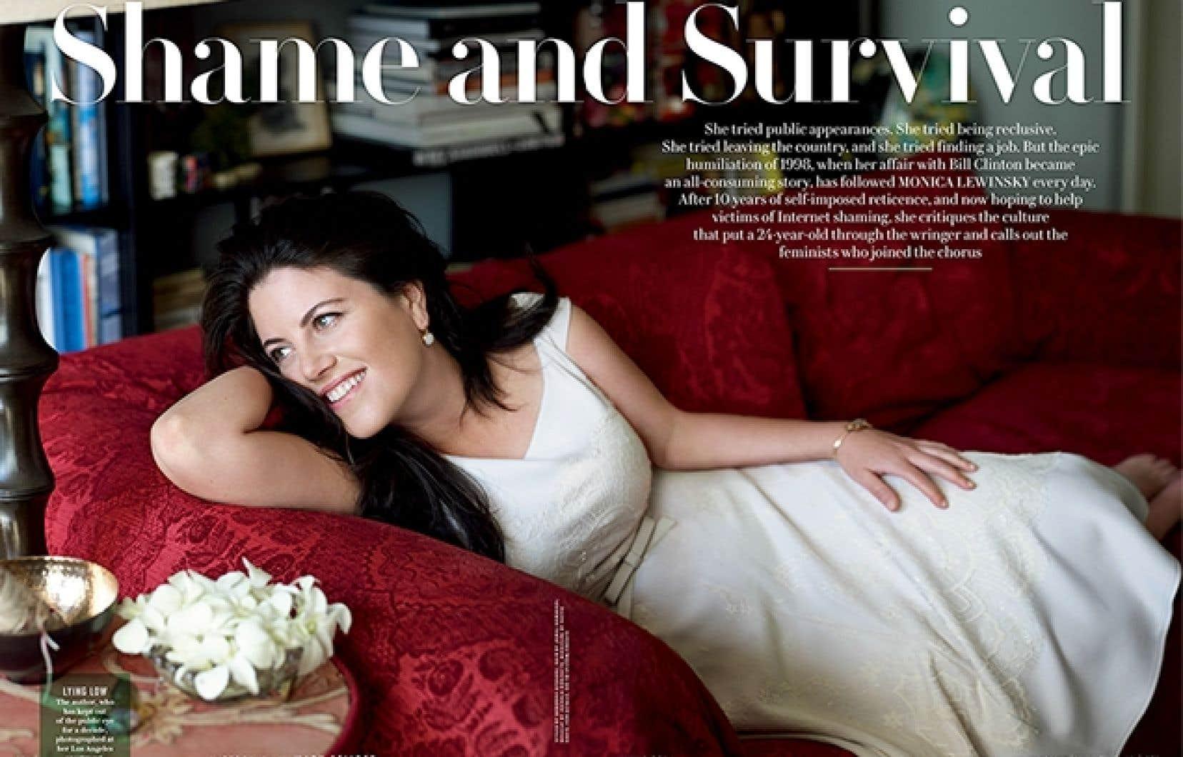 Monica Lewinsky posant pour Vanity Fair