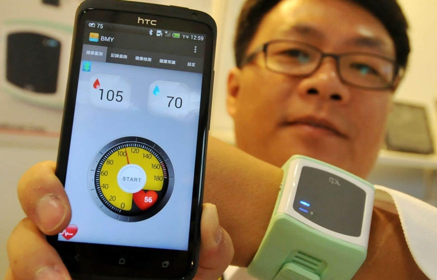 L'ère des objets dits «intelligents» est bel et bien en route. Au salon Computex de Taipei, ces gadgets sont omniprésents, comme ce bracelet qui permet de suivre son état de santé.