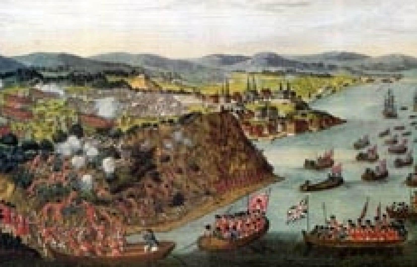 La bataille des plaines d'Abraham, à Québec, en 1759.
