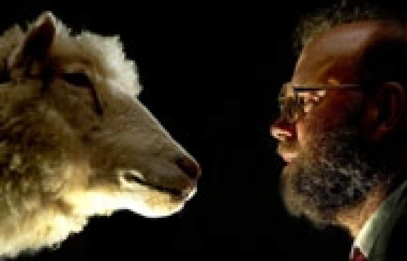 La brebis Dolly et son créateur, Ian Wilmut.