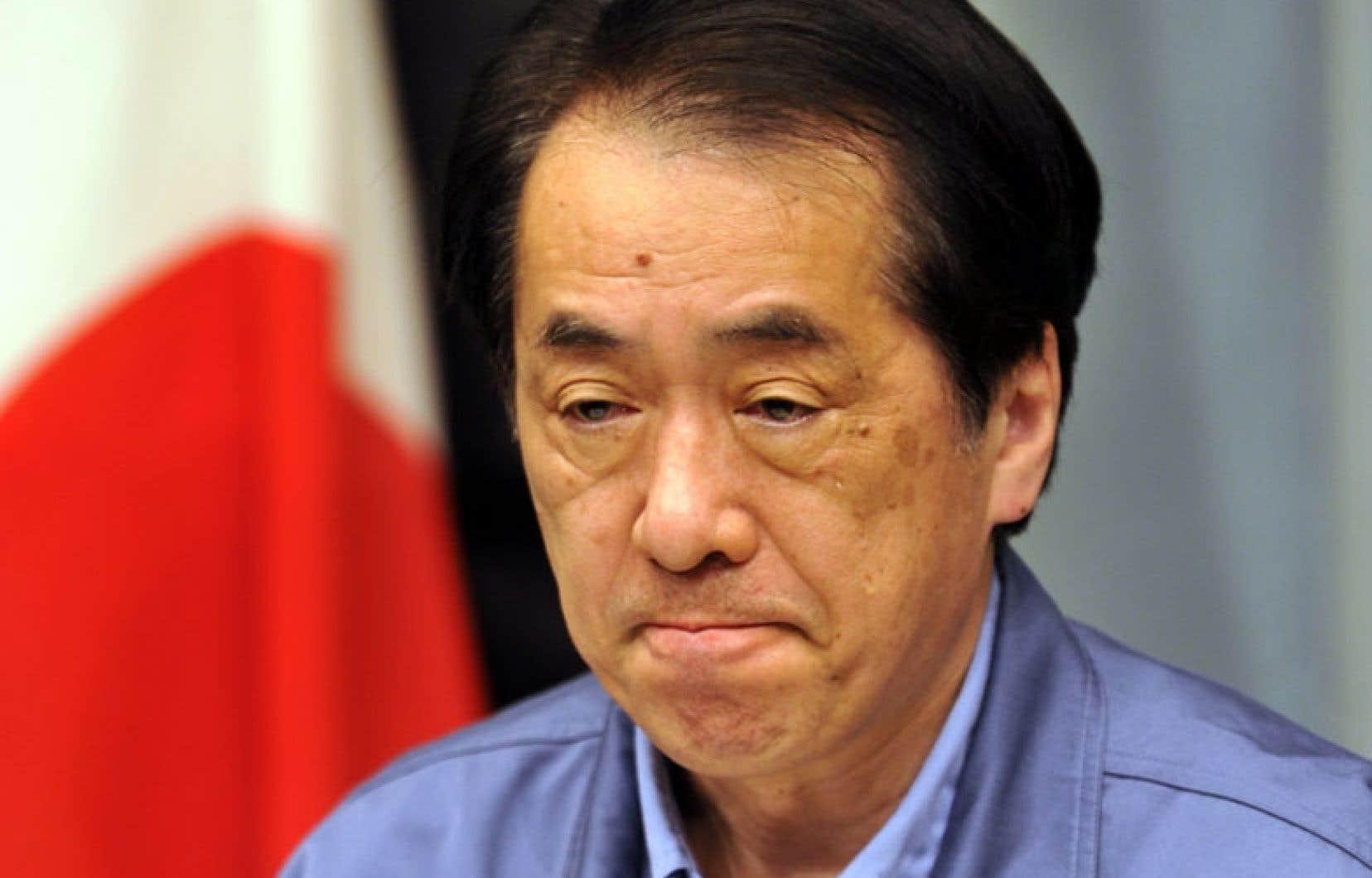 Naoto Kan s'adressant au peuple japonais le 25mars 2011