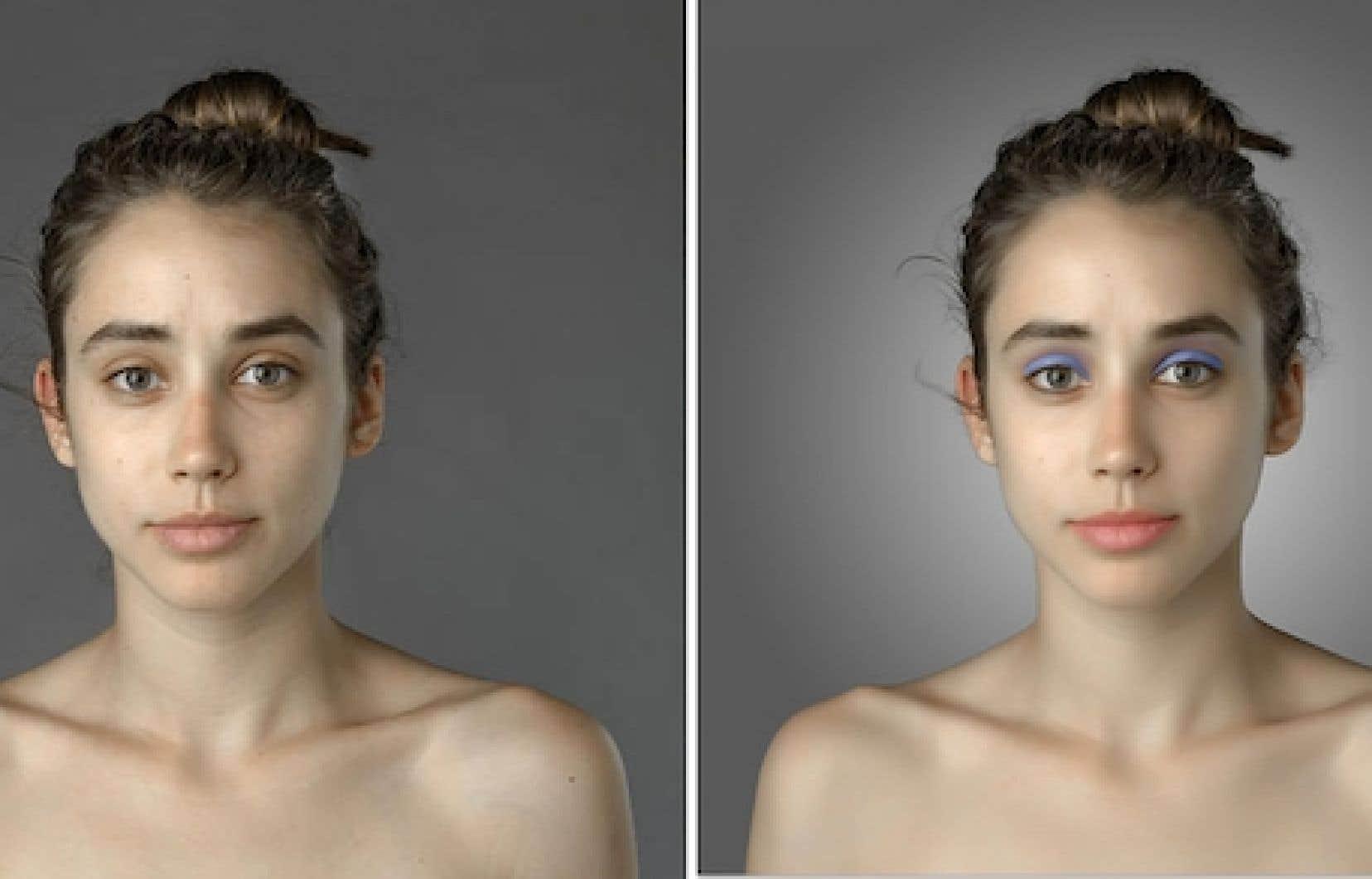 Le beau dans ses différences: à gauche, l'original, à droite, retouchée au Kenya
