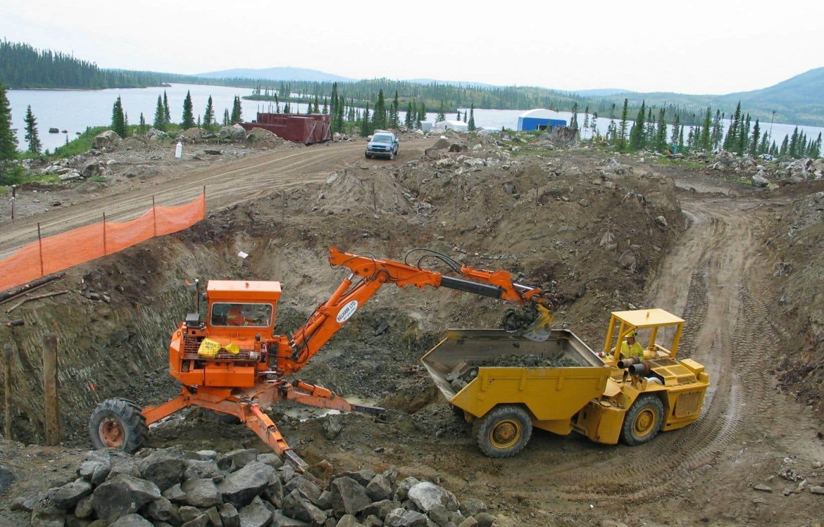 C'est en 2001, après cinq années de recherches, que le potentiel du projet baptisé Renard a été découvert, près des monts Otish.<br />