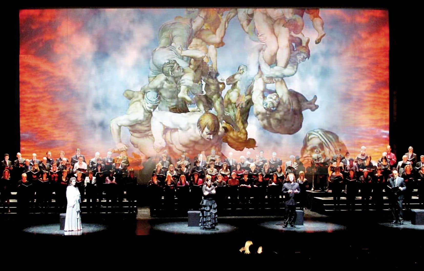 Le jugement dernier alliera la musique de Verdi et des projections de l'œuvre légendaire du même nom de Michel-Ange, qui orne la chapelle Sixtine.
