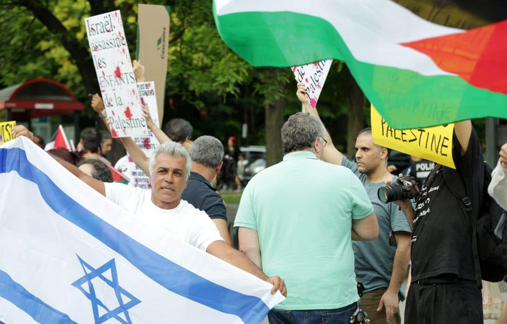 En plus des différentes manifestations de soutien pour l'un ou l'autre camp tenues ces derniers jours à Montréal, des comportements jugés haineux ont été répertoriés et signalés aux autorités policières, qui disent les prendre «très au sérieux».