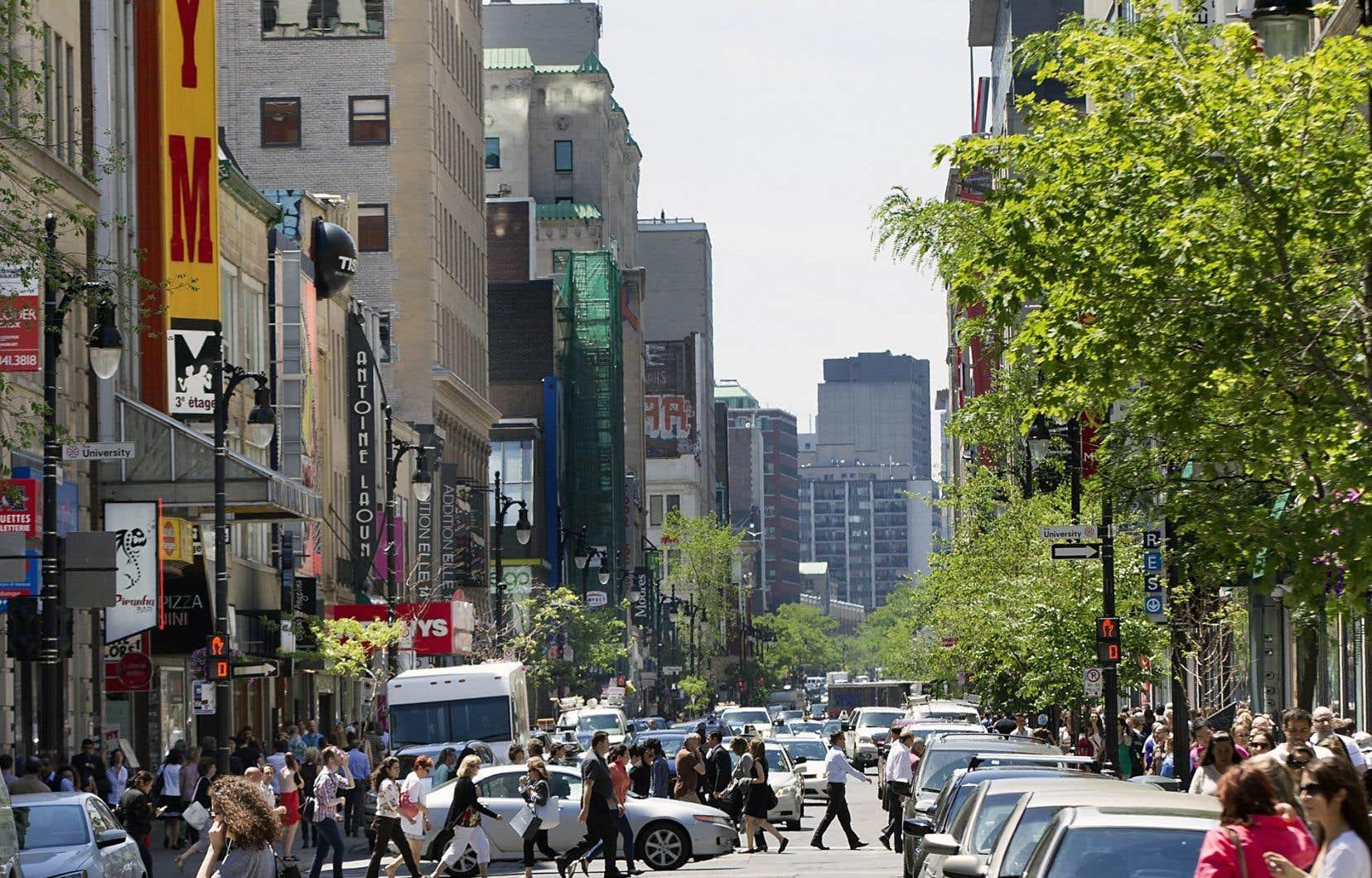 La consultation sur l'avenir de la rue Sainte-Catherine se poursuit jusqu'à mardi.