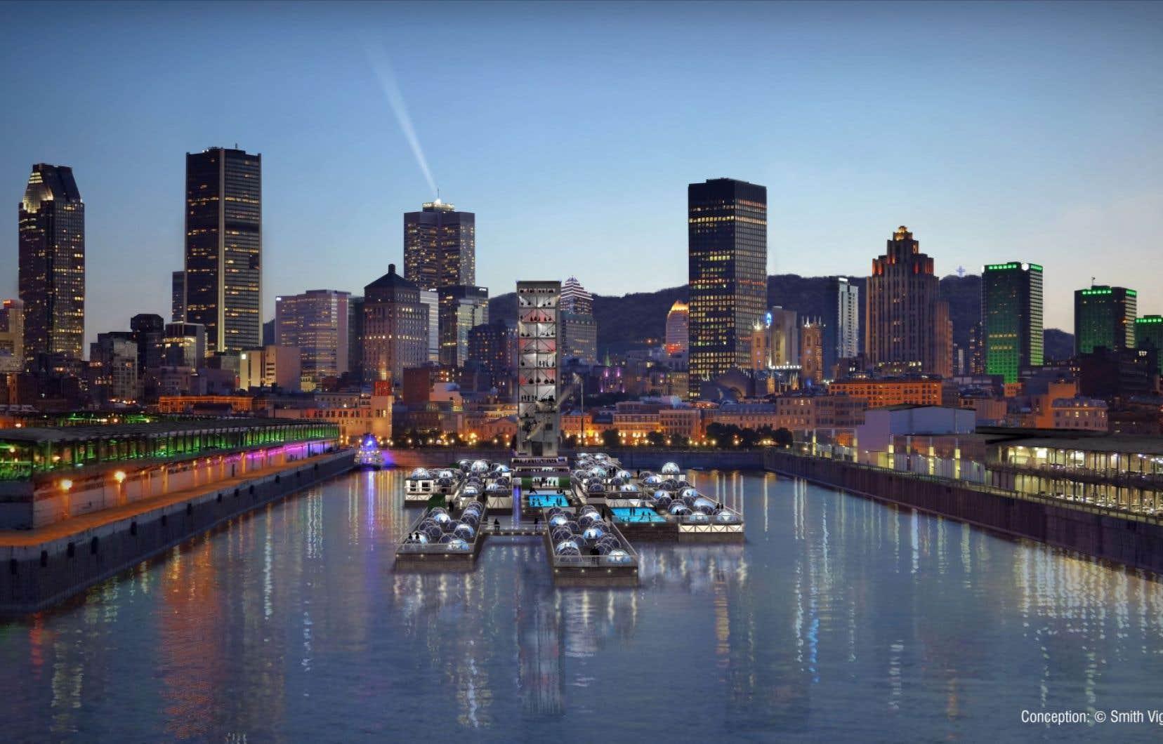 Les architectes Vincent Léger et Daniel Smith font partie d'un groupe d'architectes, d'ingénieurs et de férus de développement urbain qui planchent depuis le printemps sur un projet de plateforme flottante dans le Vieux-Port de Montréal.