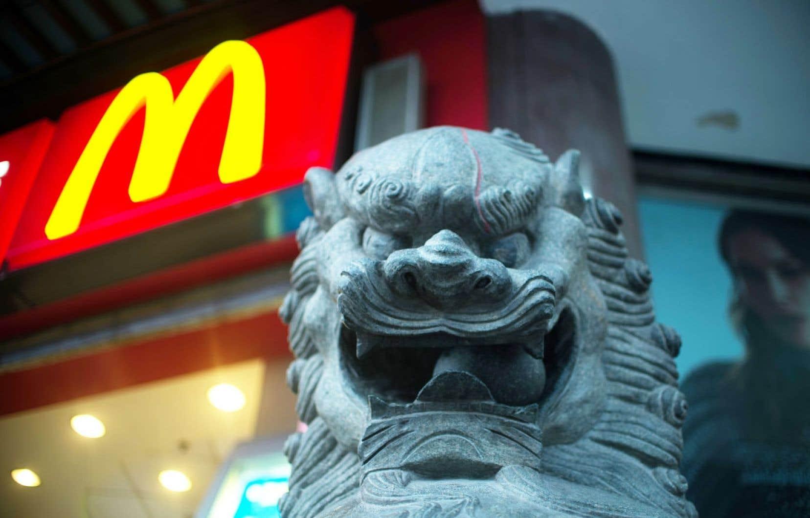 Un McDonald's à Shanghai, la capitale économique chinoise