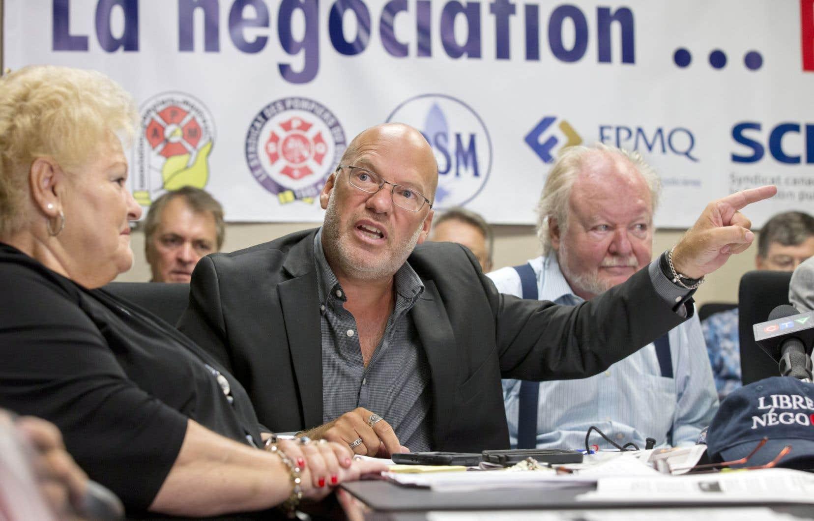 Marc Ranger, porte-parole de la Coalition syndicale pour la libre négociation, déplore l'absence d'espace pour une véritable négociation.
