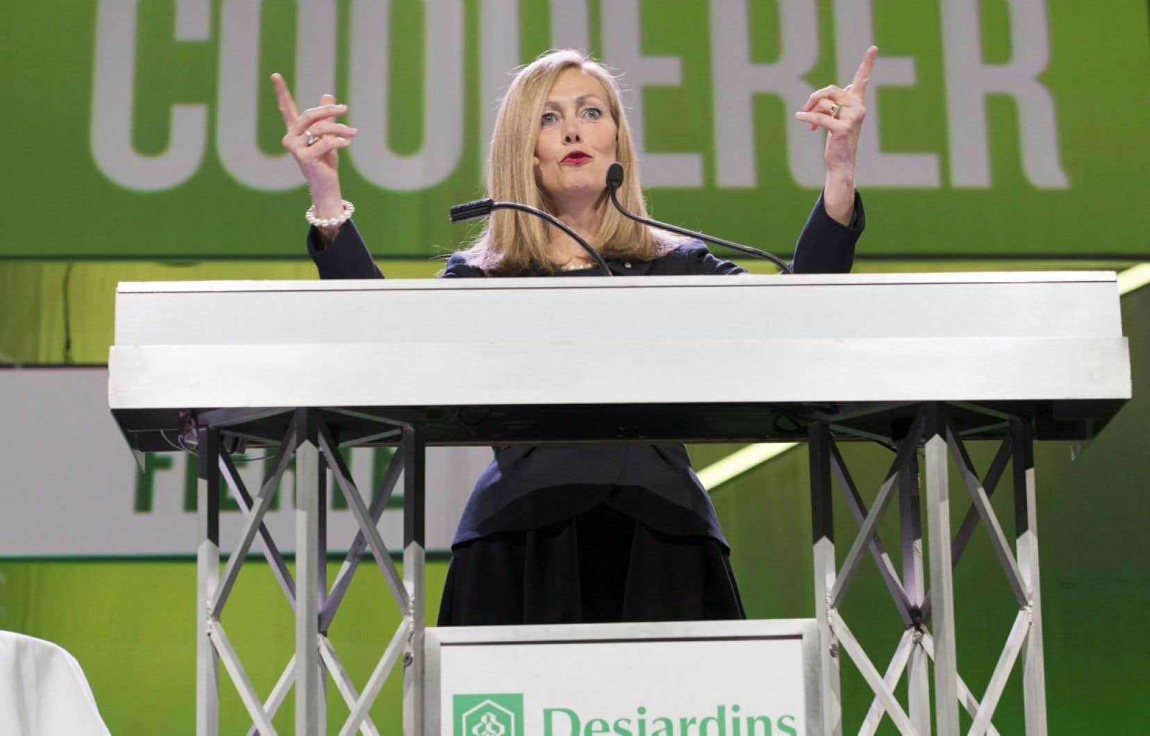Monique Leroux, présidente et chef de la direction du Mouvement Desjardins, en avril 2013