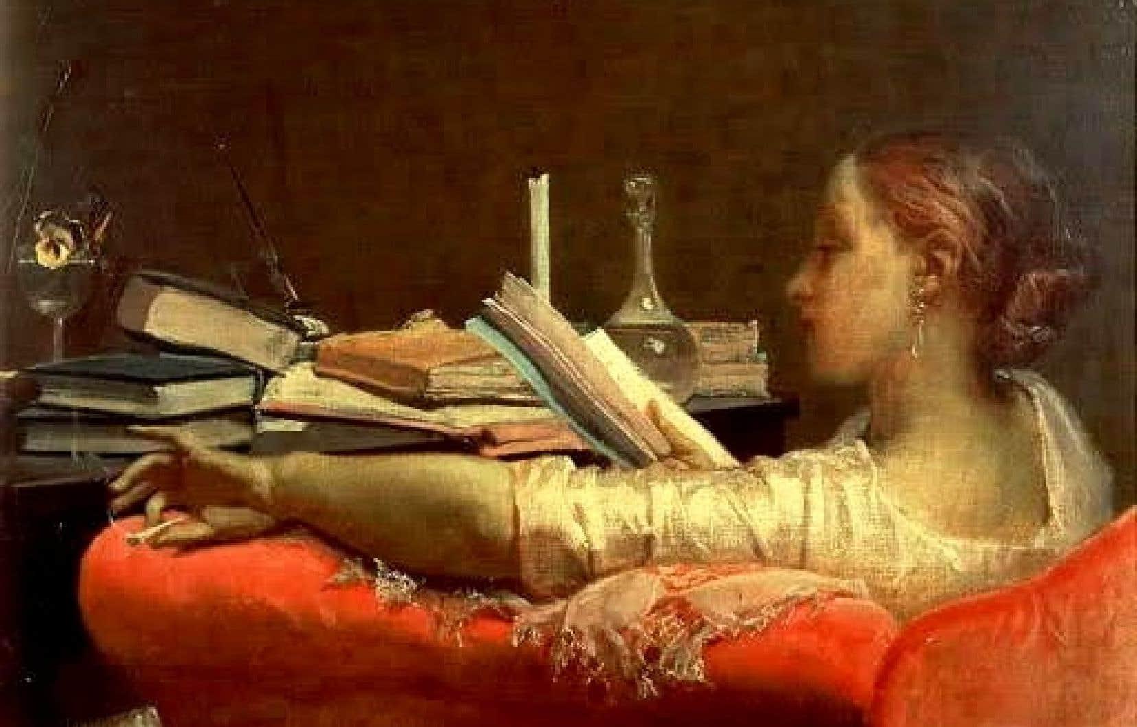 La lectrice (1864), oeuvre de Federico Faruffini
