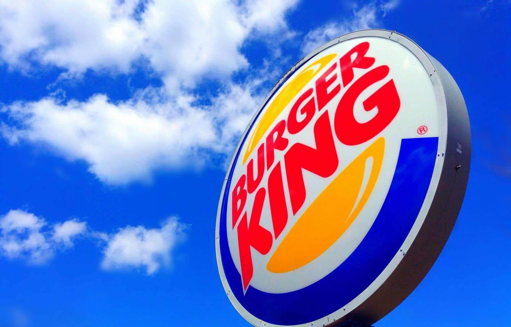 Le titre de l'américaine Burger King Worldwide a avancé lundi de 19,5 % à 32,40 $US à la Bourse de New York.