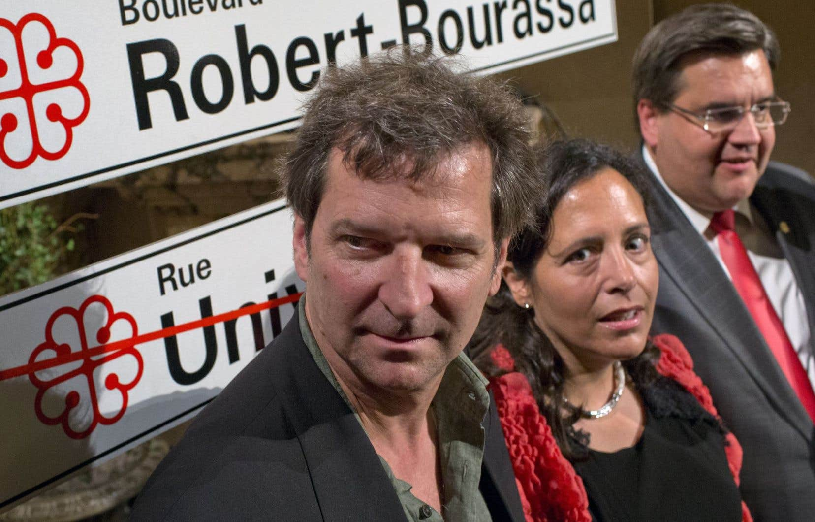 François et Michelle Bourassa, les enfants de Robert Bourassa, ont procédé à l'annonce mercredi soir avec le maire de Montréal, Denis Coderre.
