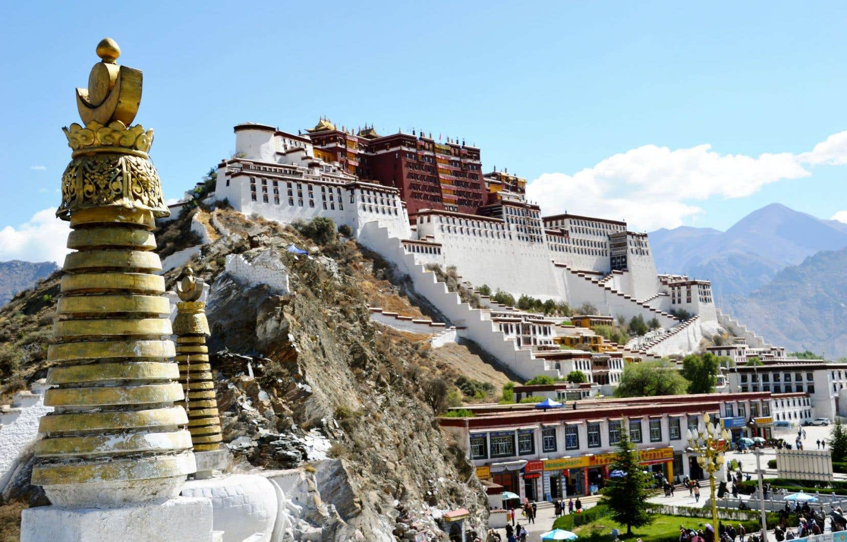 Le Potala, à Lhassa, résidence d'été des dalaï lamas jusqu'en 1959.