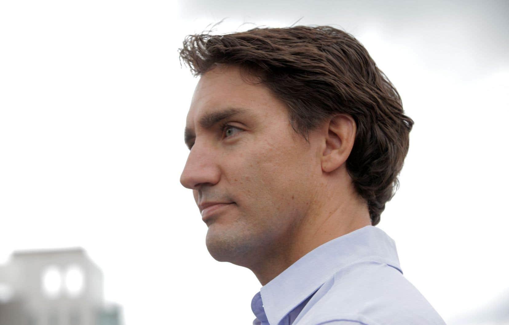 Le chef du Parti libéral du Canada Justin Trudeau