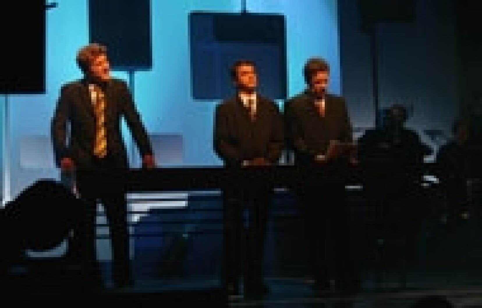 Christian Vanasse et François Parenteau lors d'un spectacle des Zapartiste, en mars 2004.