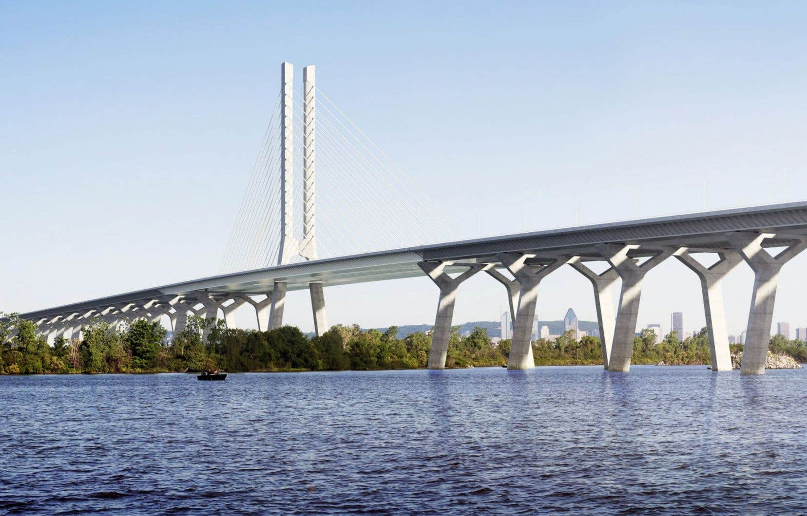 La maquette du futur pont Champlain
