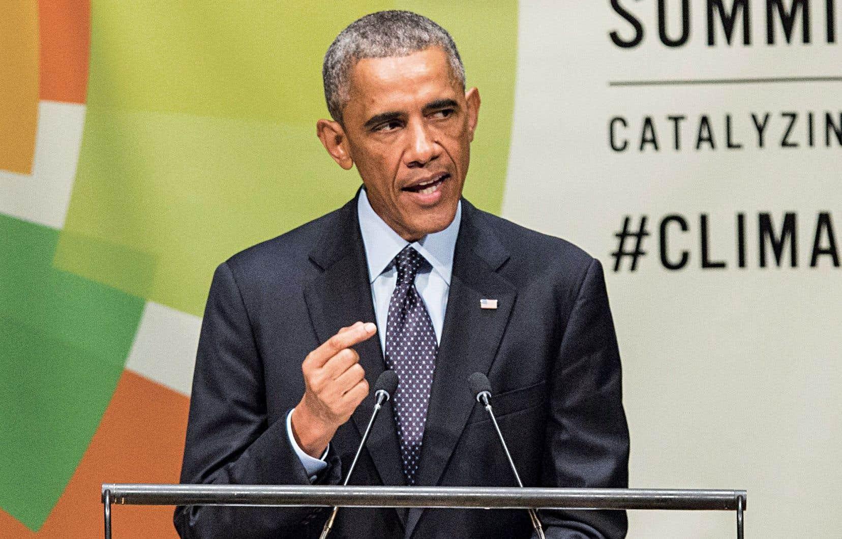 Le président américain, Barack Obama, s'est adressé mardi aux chefs d'État et de gouvernement participant au sommet de l'ONU sur le climat, à New York.